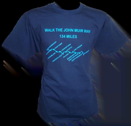 G63 – Adults T-shirt – Walk the John Muir Way