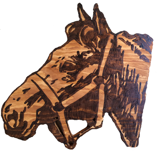 Woods – Large – Horse – Horse Head