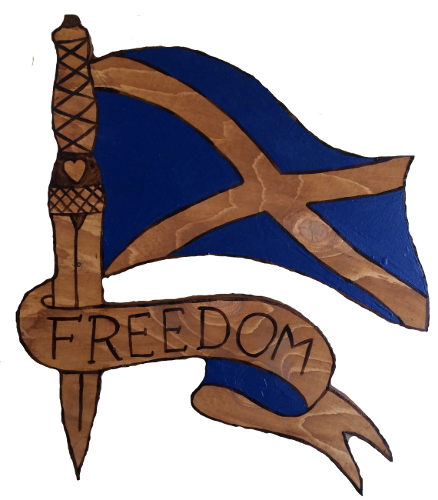 Woods – Large – Scotland Flag – Freedom