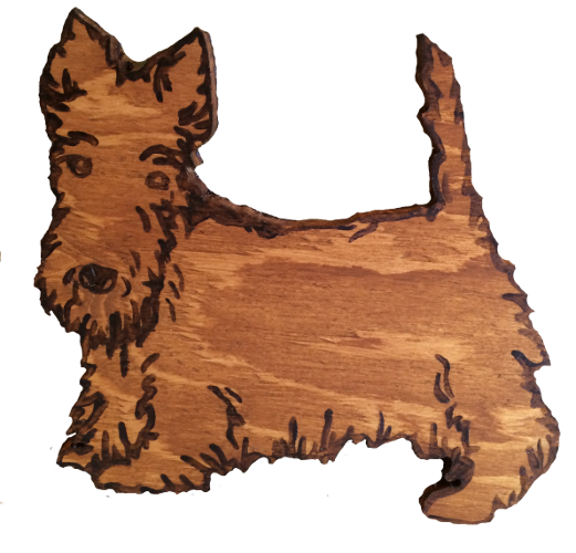 Woods – Large – Scottie Dog