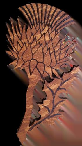 Woods – Large – Thistle & leaf
