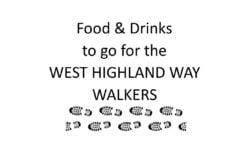 FOOD & DRINKS TO GO - West Highland Way